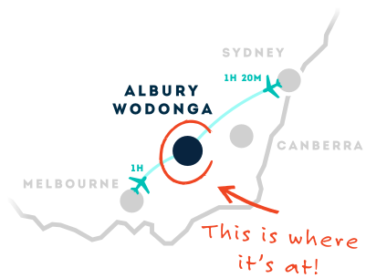 Albury Wodonga Map